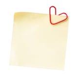 Note pour le jour de l'amour Photo stock