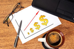Note  profits dollar Stock Photo