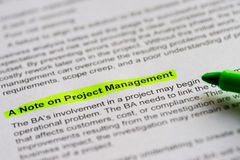 A note on project management Royalty Free Stock Photography