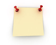 Note and push pins Royalty Free Stock Photography