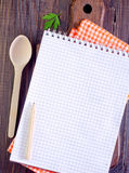 Note for recipe Royalty Free Stock Images