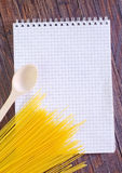Note and recipe Royalty Free Stock Image