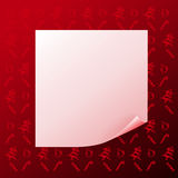 Note on red christmas background Stock Image