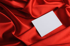 Note on red silk Royalty Free Stock Images