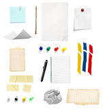 Note reminder business office supplies Royalty Free Stock Images