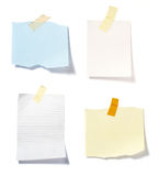 Note reminders collection Stock Photography