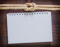 Note and rope Royalty Free Stock Photos