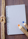 Note and rope Stock Photography