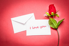 Note and rose Royalty Free Stock Photos