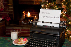 Note for Santa Stock Image