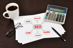 Note scheme seo Royalty Free Stock Photo