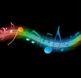 Note scorrenti di musica illustrazione di stock