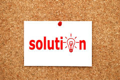 Note solution Royalty Free Stock Photos
