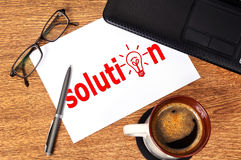 Note solution Stock Photography