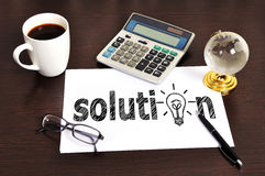 Note solution Royalty Free Stock Photo