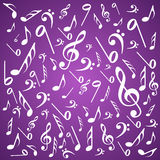 Note sound background Royalty Free Stock Photography