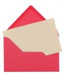 Note sous enveloppe rose images libres de droits