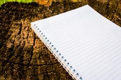 Note sur la table en bois Image libre de droits