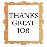 Note of thanks. Thanks ,note of appreciation on white background Stock Images
