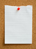 Note with thumbtack. Royalty Free Stock Photos
