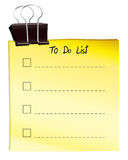 A note for to do list Royalty Free Stock Image