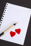 Note to lover Stock Photos