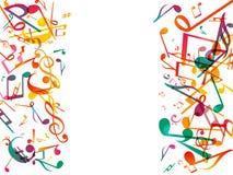 Note variopinte di musica Fondo dell'estratto dell'illustrazione di vettore Fotografie Stock
