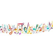 Note variopinte di musica Fondo dell'estratto dell'illustrazione di vettore Fotografia Stock Libera da Diritti