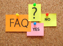 Free Note With Faq Stock Photography - 15740432