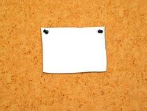 Note1 in bianco immagini stock
