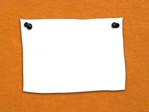Note2 en blanco Fotos de archivo