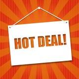 Noteboard met de woorden Hete overeenkomst Royalty-vrije Stock Foto