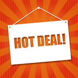 Noteboard with the words Hot deal Royalty Free Stock Photo