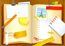 Notebook. Vector illustration of the note book Stock Photo
