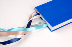 Notebook. With a bookmark in the form of ribbons Stock Images