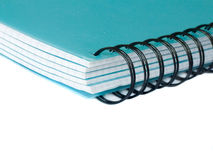 Notebook. Spiral notebook closeup, isolated over white background Stock Images