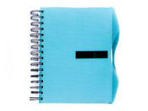 Notebook. Spiral notebook closeup, isolated over white background Stock Photography