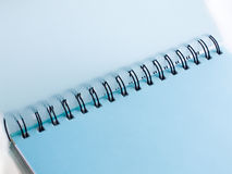 Notebook. Spiral notebook closeup, isolated over white background Stock Photos