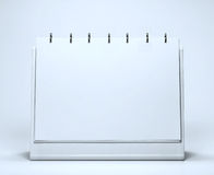 NOTEBOOK. BLANK NOTEBOOK on a spring ISOLATED ON WHITE Stock Images