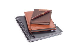 Notebook. Three notepads and one pen royalty free stock images