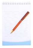 Notebook. Notebook with the handle on a white background Royalty Free Stock Photos