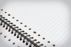 Notebook. Close op open white notebook Stock Photos
