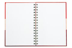 Notebook. Face notebook for background and text Royalty Free Stock Photos