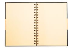 Notebook. Face gray notebook for background and text Stock Image