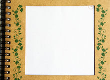 Notebook. Old notebook  isolated on white background Stock Photo