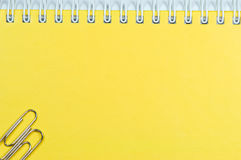 Notebook. Cover of yellow notebook close up Royalty Free Stock Image