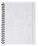 Notebook. White empty notebook isolated on white Stock Images