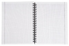 Notebook. White empty notebook isolated on white Stock Photography