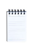 Notebook. White blank notebook with lines Royalty Free Stock Photography