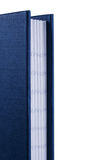Notebook. Dark blue closed notebook fragment close up Stock Image